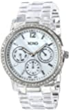 XOXO Women's XO5529 Clear Bracelet with Rhinestones on Silver Case Watch