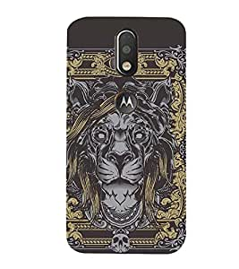 99Sublimation Wall Painting Lion 3D Hard Polycarbonate Back Case Cover for Motorola Moto G4