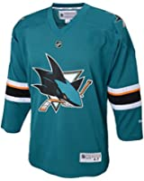 NHL Reebok San Jose Sharks Kids 4-7 Hockey Team Color Jersey