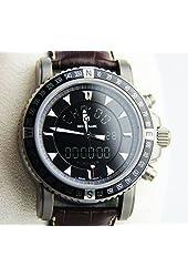 Montblanc Xxl Quartz Chronograph Titanium Watch 7062 Alligator New $3800 8468