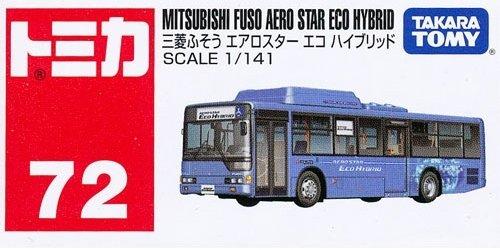 TOMY TOMICA No. 72 MITSUBISHI FUSO AERO STAR ECO HYBRID BUS - 1