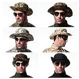 Military Boonie Hat - Camo Camouflage Cotton Wide-brim Outdoor Sun Hat Multi Color