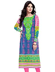 Shree Sanskruti Multy Color Colour Cotton Un-Stiched Printed Kurti For Women