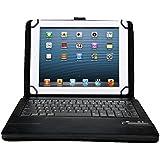 IVSO Samsung Galaxy Tab 3 10.1 Bluetooth Keyboard Portfolio Case - DETACHABLE Bluetooth Keyboard Stand Case / Cover for Samsung Galaxy Tab 3 10.1 Tablet (Black)