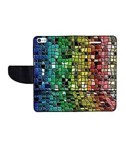 KolorEdge Printed Flip Cover For Apple IPhone 5 Multicolor -(43KeMLogo12107IPhone5)