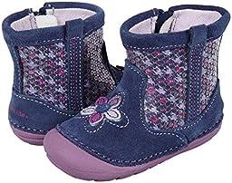 Stride Rite SRT SM Luminara Crib Boot (Infant/Toddler),Navy/Purple,3.5 M US Toddler