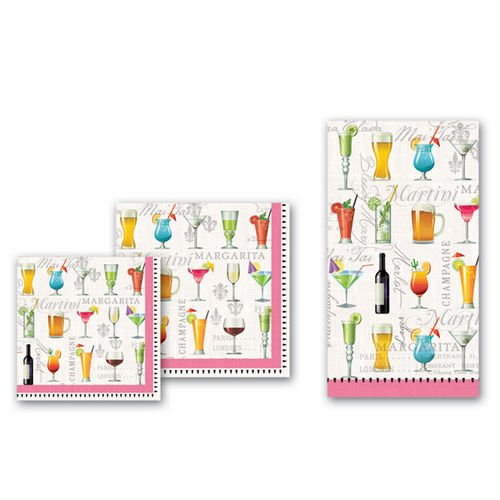 Cocktail Hour Toast Beverage Napkins