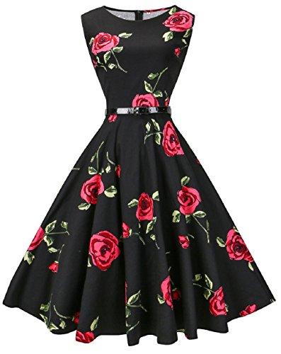 vogvog-womens-audrey-hepburn-sleeveless-plus-size-vintage-tea-dress-with-beltrose-redx-large