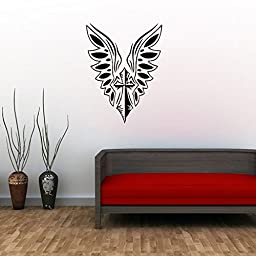 YUFENG Cross of Jesus with Angel Wings Art Wall Stickers