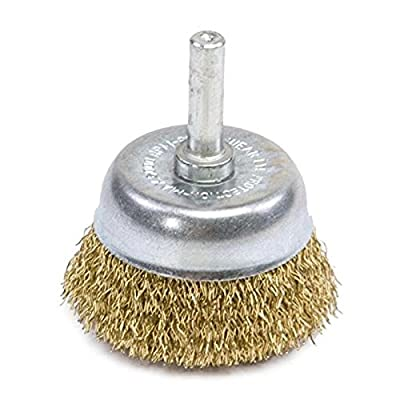 "Forney 72268 Wire Cup Brush, Coarse Crimped Circular Flared with 1/4"" Shank, 1-1/2"""