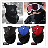 EWIN Neoprene Motor Motorcycle Bike Bicycle Skate Snowboard Vent Veil Half Face Mask, 3 Piece