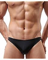 Handu Men's Seamless Ice Silk Breathable Low-Waist Translucent Triangle Briefs