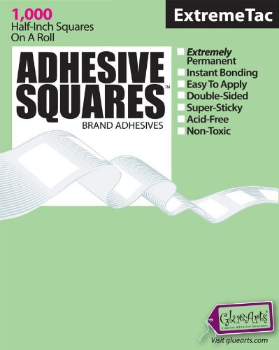 gluearts-e-00198-adhesive-squares-extreme-1000ct-roll-pack-of-6
