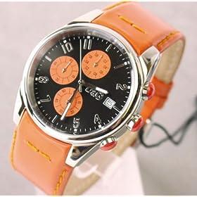 [ディー&ジー] D&G TIME ドルガバ  SANDPIPERクロノグラフ腕時計 ブラック×オレンジ 3719770107 (並行輸入品)