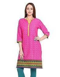 Adyana Women's Kurti (AD042_Pink_Large)