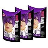 Smart Colour Semi-permanent Pure Purple Hair Dye x 3