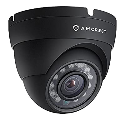 Amcrest ProHD Outdoor 1080P POE Dome IP Security Camera - IP67 Weatherproof, 1080P (1920 TVL), IP2M-844E