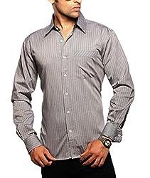 Moksh Men's Striped Casual Shirt V2IMS0414-238 (Medium)