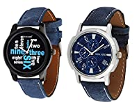 Asgard Trendy Analog Multicolour Dial Watches for Men-Set of 2