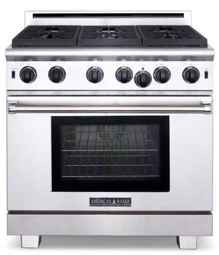 American-Range-ARR636N-Cuisine-Series-36-Sealed-Burner-All-Gas-Range-Stainless-Steel