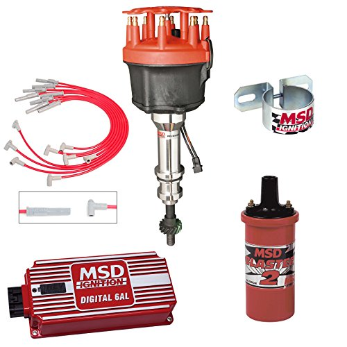 MSD Ignition Kit Ford 351W Digital 6AL Distributor Wires Coil Bracket (Msd Distributor 8584 compare prices)