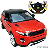 Smart Picks Officially Licensed Electric 1:14 Scale Full Function Range Rover Evoque Remote Control Car (Red)