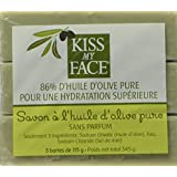 Kiss My Face Naked Pure Olive Oil Bar Soap,4oz Bars, 3 Bars In A Gift Box