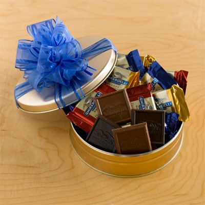 Ghirardelli Galore Gift Tin By Gift Basket Super Center