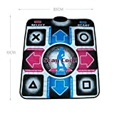 XFUNY(TM) 8mm PVC Fitness Non-slip Dancing Step Single Dance Mat Music Mat Mats Pads to PC with 1.8M/6FT USB Cable
