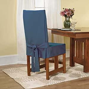 Sure Fit Cotton Duck Shorty Dining Room Chair Cover Bluestone Futon Slipcovers