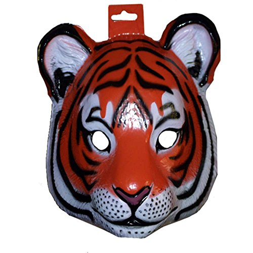 Forum Novelties - Plastic Tiger Mask, 8.6 x 9.3 x 4.5 inches