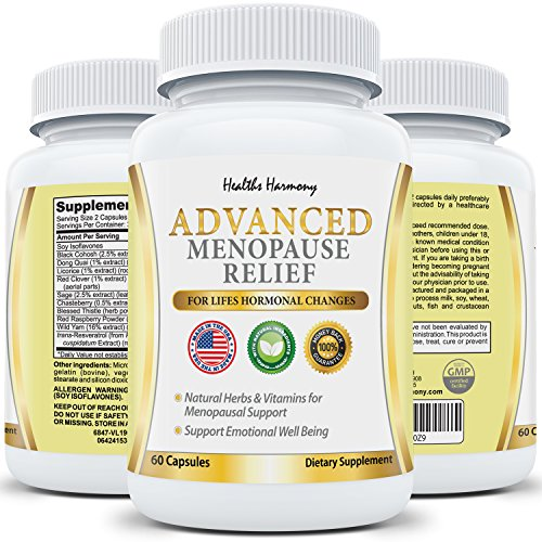 Best Menopause Relief: Helps Reduce Menopausal & Perimenopause Symptoms - Hot Flashes & Night Sweats - Female Hormonal Support Supplement for Hormone Balance with Black Cohosh - 60 Capsules (Hot Flash Remedy compare prices)