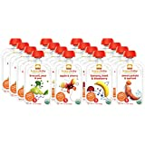 Happy Baby Organic Baby Food Stage 2 Simple Combos Variety Pack, 3.5 oz Pouches, 16-Count