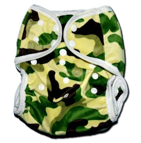 "One Size Fit All- Diaper Covers for Prefolds or Regular Inserts PUL MINKY - CAMOFLOUGE (CAMO) by ""BubuBibi"""