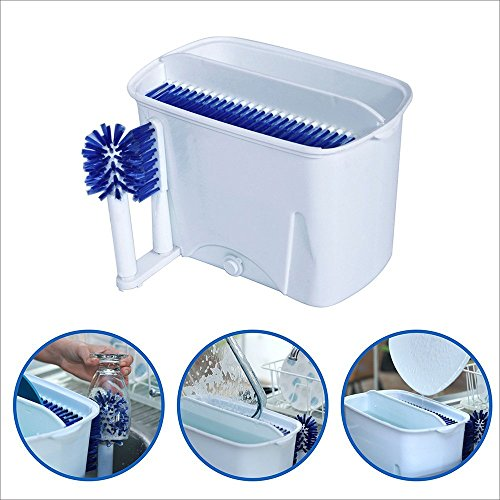 EasyGoDishwasherTM - Manual Portable Dishwasher - Easy to clean all size dishes and silverware. This dish scrubber is great for houses, condos, apartments, camping, boats and RV's - 100% Satisfaction Guaranteed (Manual Dishwasher compare prices)