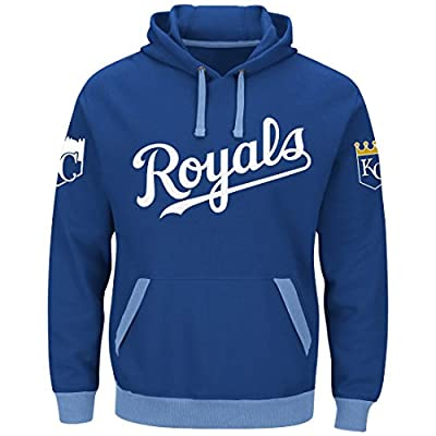 Majestic Kansas City Royals Mens Royal Third Wind Embroidered Pullover Hoodie Sweatshirt
