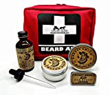 Beard First Aid Kit - by Honest Amish - Gift for the Bearded Man Who Has Everything - Oil, Balm, Wax
