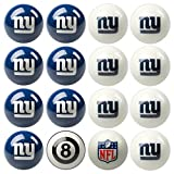 NFL New York Giants Home Versus Away Team Billiard 8-Ball Set