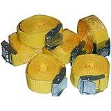 6 Stück Spanngurte Klemmschloss Befestigungsriemen Spanngurt mit Schnellverschluss (6)