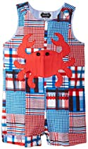 Mud Pie Toddler Boathouse Crab Shortall (2T with Bracelet for Mom)