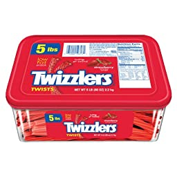 TWIZZLERS Twists (Strawberry, 5-Pound Package)