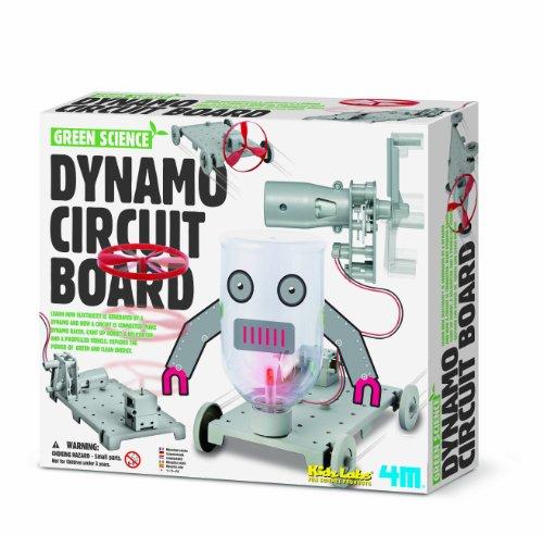 4M 68366 - Green Science, Dynamo Circuit, Gioco per imparare il funzionamento di una dinamo e dei circuiti elettrici [Lingua inglese]