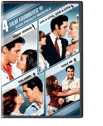 Elvis Presley Musicals: 4 Film Favorites (Kissin' Cousins / Live a Little Love a Little / Girl Happy / Tickle Me)