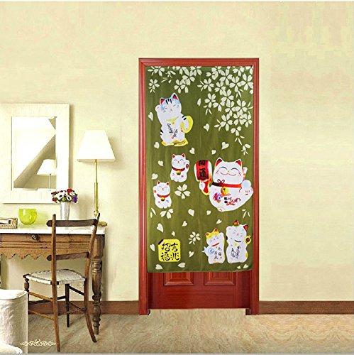 Red Japanese Noren Doorway Curtain