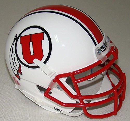 NCAA Utah Utes with Stripe Mini Helmet, One Size, White (Football Helmet Stripes compare prices)