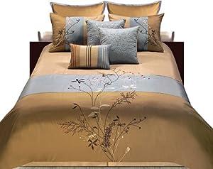 Hallmart Collectibles 47996 Camille Full Size Comforter Set, 4-Piece