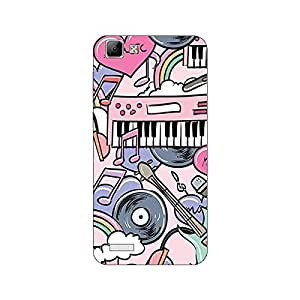 Garmor Designer Silicone Back Cover For Reliance Lyf Water 6