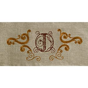 Grasslands Road Cucina Monogram Letter Initial J Embroidered Scrollwork Tea Towels, Set of 2 at Sears.com