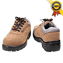 Mildness New Fashionable & Multifunction Safety Work Shoes (10, Brown)