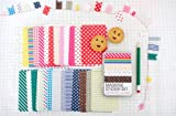 Washi Masking Tape 27 Sheets Korea Pretty Sticker Set - Sticker Paper Colorful Paper Tape-Basic